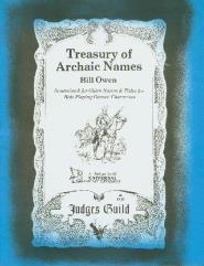 Treasury of Archaic Names (2nd Printing)