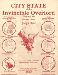 City State of the Invincible Overlord - Cover Sheet (Red Print w/White Background)