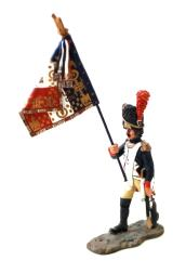 French Guard Officer w/Flag #1