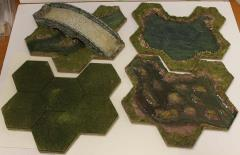 Customized Green Flocked Terrain Board Collection