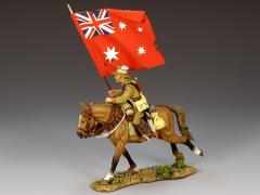 Mounted Australian Flagbearer w/Red Ensign