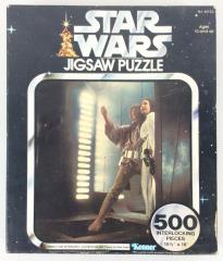 Series II Jigsaw Puzzle - Luke Skywalker and Leia Leap for Their Lives!