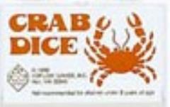 d6 16mm Crab Dice - White w/Orange (5)