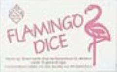 d6 16mm Flamingo Dice - Aqua w/Pink (5)