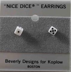 Post Earrings 5mm Opaque White w/Black