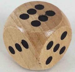 d6 18mm Wood Dice (5)