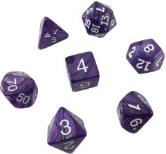 Poly Set Purple w/White (7) (Plastic Box)