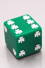 d6 25mm Lucky Shamrocks (2)