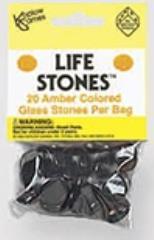 Amber Glass Stones