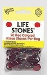 Red Glass Stones