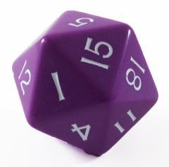 Jumbo d20 - Purple