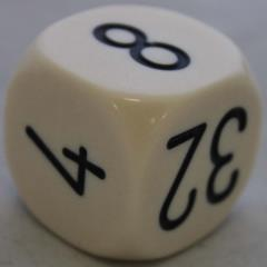 30mm Pearl Doubling Cube - Ivory w/Black Numbers