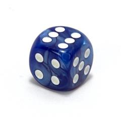 d6 75mm Blue w/White