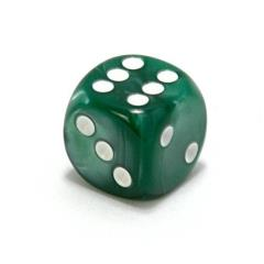 d6 75mm Green w/White