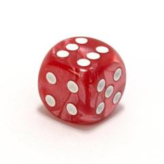 d6 75mm Red w/White