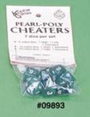 Cheaters Poly Set Green w/White (7)