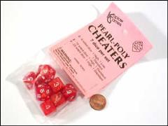 Cheaters Poly Set Red w/White (7)