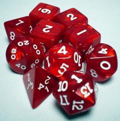 Poly Set Red w/White (10)