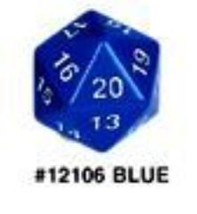 d20 55mm - Blue w/White