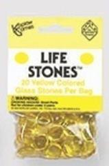 Yellow Glass Stones