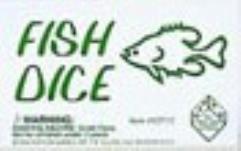 d6 16mm Fish Dice - Green w/Black (5)