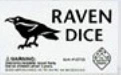 d6 16mm Raven Dice - Black w/White (5)
