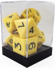 Poly Set Yellow w/Cube (7)