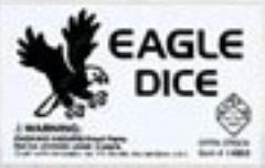 d6 16mm Eagle Dice - White w/Black (5)