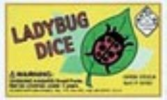 d6 16mm Ladybug Dice - Red w/Black (5)