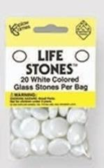 White Glass Stones