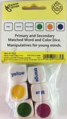 d6 20mm Matching Word & Spot Color Dice (6)
