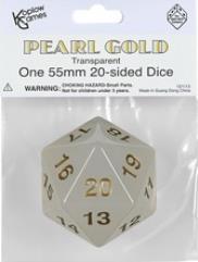 d20 55mm Pearl w/Gold