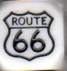 d6 Route 66 Dice White w/Black (5)