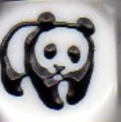 d6 16mm Panda Dice - White w/Black (5)