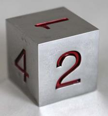20mm d6 Metal Dice w/Red