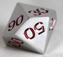 20mm d10 Percentage Metal Dice w/Red