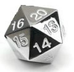 d20 Metal Countdown w/White Numbers