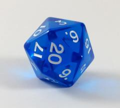 Jumbo d20 - Translucent Blue