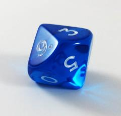 Jumbo d10 - Translucent Blue