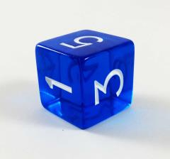 Jumbo d6 - Translucent Blue