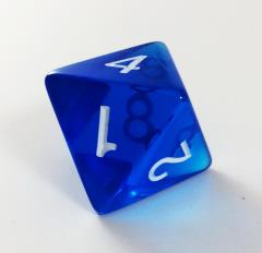 Jumbo d8 - Translucent Blue
