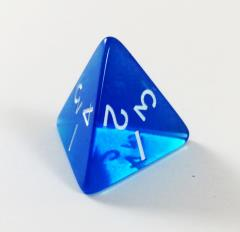 Jumbo d4 - Translucent Blue