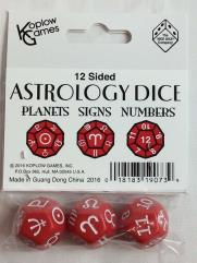 d12 Astrological Dice - Red (3)