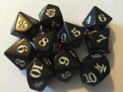 Rose D10 Black w/Silver (10)