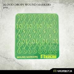 Blood Drop Wound Markers - Green