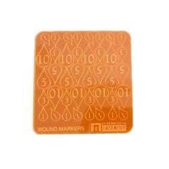 Blood Drop Wound Markers - Orange