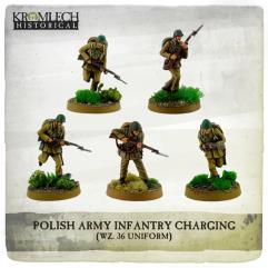 Infantry Squad - Wz. 36 Uniforms Charging w/Rifles