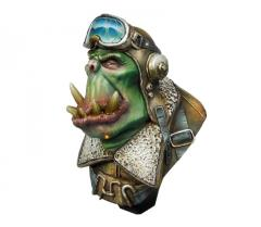 Orc Pilot Bust
