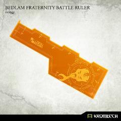 Bedlam Fraternity Battle Ruler - Orange