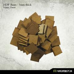25mm Square Bases - 3mm HDF
